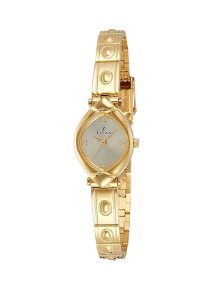 Titan Gold Dial Watch For Women - 2417YM02 -  online shopping for Wrist watches