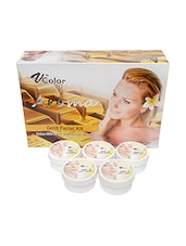 V-Color Aroma Gold Facial Kit 270 g (5 Steps) -  online shopping for Facial Kit