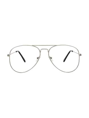 Zyaden Silver Aviator Eyewear Frame -  online shopping for Men Eyeglasses