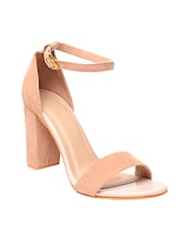 beige suede ankle strap sandals -  online shopping for sandals