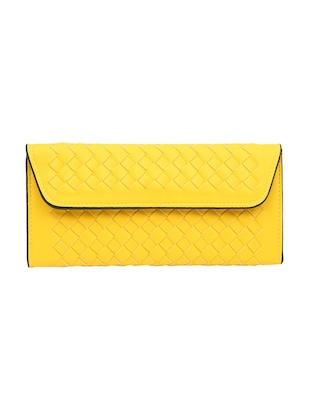 yellow leatherette  regular clutch -  online shopping for clutches