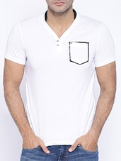 white cotton t-shirt -  online shopping for T-Shirts