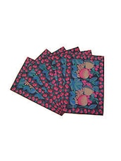 Furits Printed Cotton Table Mat Set Of 6 Pcs - By