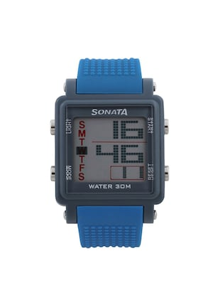 SONATA Grey Dial Digital Watch For Men - 77043PP04 -  online shopping for Digital watches