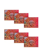 Ambbi Collections Printed Polyester Table Mat Set Of 6 Pcs - By