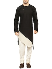 colour block asymmetrical cotton kurta -  online shopping for Kurtas
