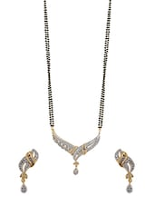 Black Gold Plated Necklaces And Earring - By
