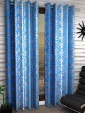 Classic 2 Piece Eyelet Polyester Curtain Set Blue -  online shopping for Curtains