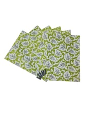 Floral Printed Cotton Set Of 6 Table Mat - By
