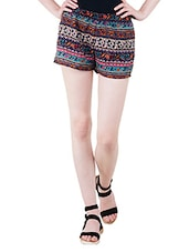 printed multi colored short -  online shopping for Shorts