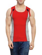 red cotton vest -  online shopping for Vests