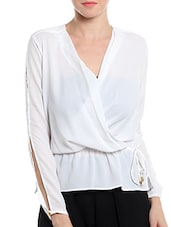 Noble Faith white polyester top -  online shopping for Tops