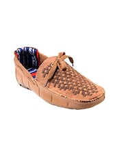 tan Denim slip on moccasin -  online shopping for Moccasins