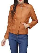 brown leather jacket -  online shopping for jackets