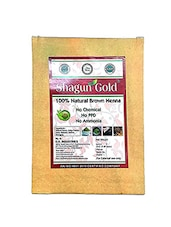 Shagun Gold Brown Henna Hair Color  100% Chemical Free Henna For Hair Color Hair Care - ( 180 Gram = 3 Packet) - By
