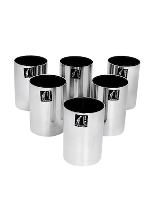 Tallboy Stainless Steel 600 ML Glasses - Set of 6 -  online shopping for Glass Sets