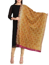 Beige Embroidered Dupatta - By