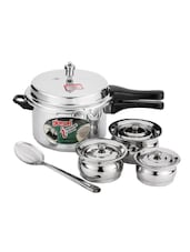 Diamond 5.0 Liter Induction Pressure Cooker And 3 Pieces Baby Cookware Set With Serving Spoon -  online shopping for Pressure Cookers