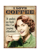 Sehaz Artworks ILoveCoffee Wooden Wall Sign -  online shopping for Wall Hanging