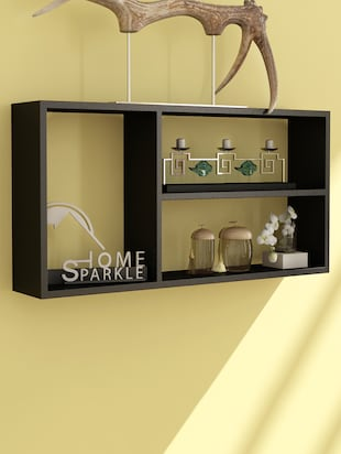 Engineered Wood Wall Shelf By Home Sparkle -  online shopping for Wall Shelves