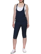 navy blue cotton dungree jumpsuit -  online shopping for Jumpsuits