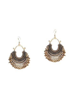 gold silver plated drop earring -  online shopping for earrings
