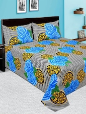 Printed Double bedsheet with 2 pillow cover -  online shopping for bed sheet sets