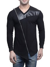 black cotton t-shirt -  online shopping for T-Shirts