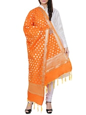 Orange Banarasi Dupatta - By