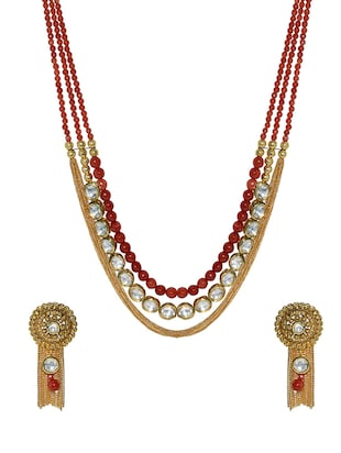 multi metal long necklace -  online shopping for Necklaces