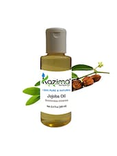 KAZIMA Jojoba Cold Pressed Carrier Oil (100ML) Pure Natural Used For Hair Growth, Hair ReGrowth, Acne, Massage - By