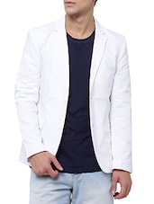 white cotton casual blazer -  online shopping for Casual Blazer