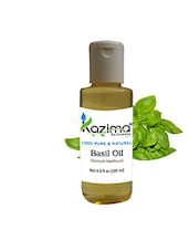 KAZIMA Basil Tulsi Essential Oil (200ML) 100% Pure Natural & Undiluted For Skin Care & Hair Treatment - By