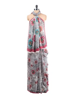 Printed Georgette Saree - Saboo