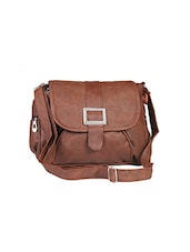 brown cotton regular sling bag -  online shopping for sling bags