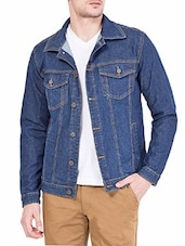 dark blue denim jacket -  online shopping for Denim Jacket
