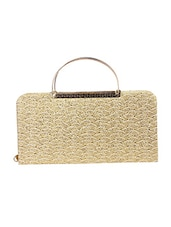 gold leatherette  regular clutch -  online shopping for clutches