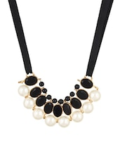 Black Metal Collar Necklace - By
