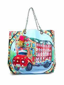 Truck Print Handbag - The House Of Tara