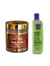 Pink Root Cocoa Butter Scrub (100gm) With Clean & Clear Morning Energy Face Wash Purifying Apple (100ml) Pack Of 2 - By