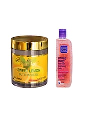 Pink Root Sweet Lemon Butter Cream (100gm) With Clean & Clear Morning Energy Face Wash Brightening Berry (100ml) Pack Of 2 - By