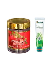 Pink Root Pomegranate Butter Cream (100gm) With Himalaya Purifying Neem Face Wash (100ml) Pack Of 2 - By