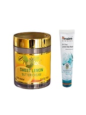 Pink Root Sweet Lemon Butter Cream (100gm) With Himalaya Oil Clear Lemon Face Wash (100ml) Pack Of 2 - By