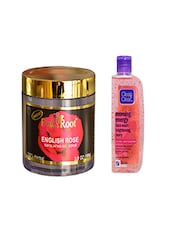 Pink Root English Rose Exfoliating Gel Scrub (100gm) With Clean & Clear Morning Energy Face Wash Brightening Berry Pack Of 2 - By