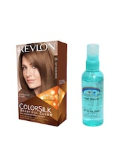 Pink Root Hair Serum (100ml) With Revlon Colorsilk Hair Color With 3D Color Technology Light Golden Brown 54 Pack Of 2 - By