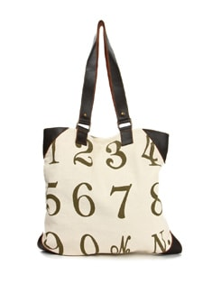 Number Fun Cotton Canvas Bag - The House Of Tara