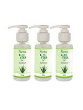 KAZIMA Pure Natural Raw Aloe Vera Gel 200 Gram (Pack Of 3) - Ideal For Skin Treatment, Face, Acne Scars, Hair Treatment - By