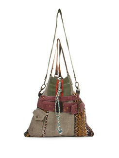 Green And Grey Boho Chic Bag - The House Of Tara
