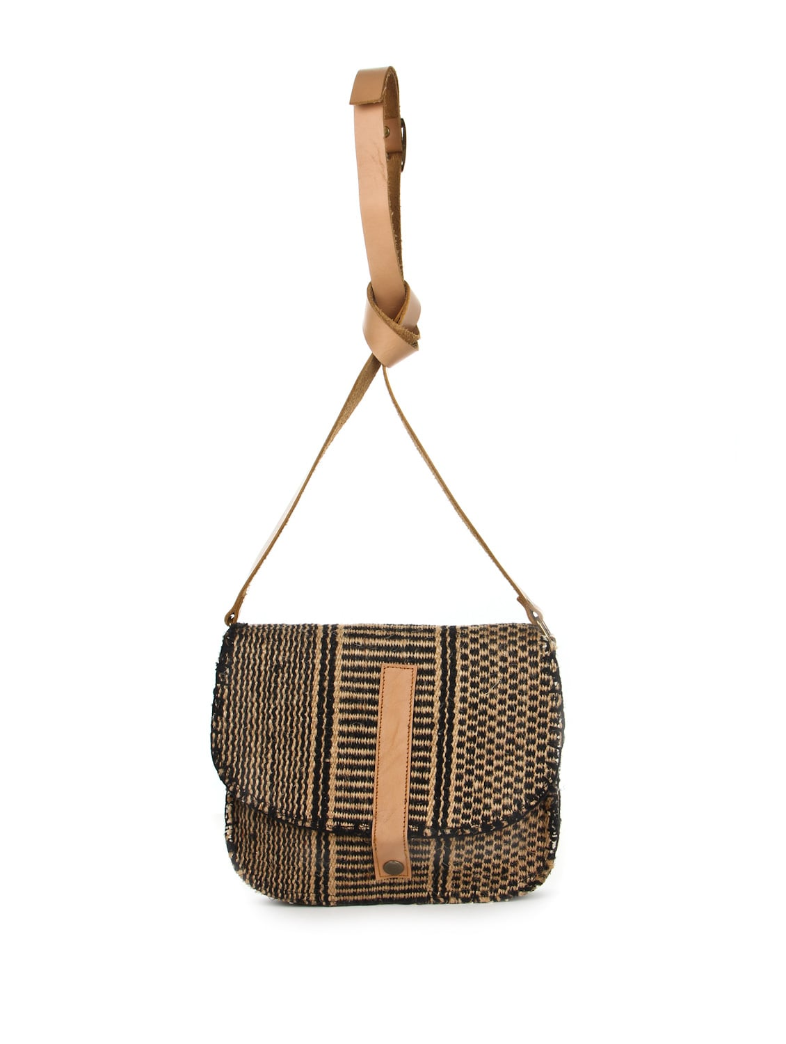 Brown And Black Jute Sling Bag - The House Of Tara