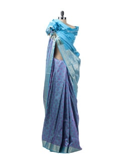 Jacquard Saree With Silk Border - Saboo
